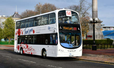 Go North East honours Remembrance Day and World War One centenary with poppy bus, bespoke tickets and signage