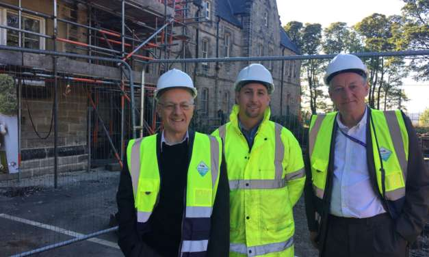 VIPs Visit Pendower Hall At Crucial Stage of Works