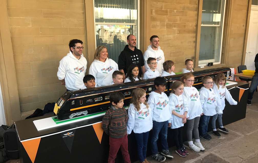 Young Master Builders complete Grand Central's challenge to recreate Adelante train using LEGO®