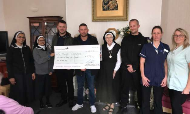 Local convent receives generous donation from roofing company