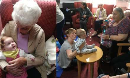 Baby yoga classes held at Teesside care home