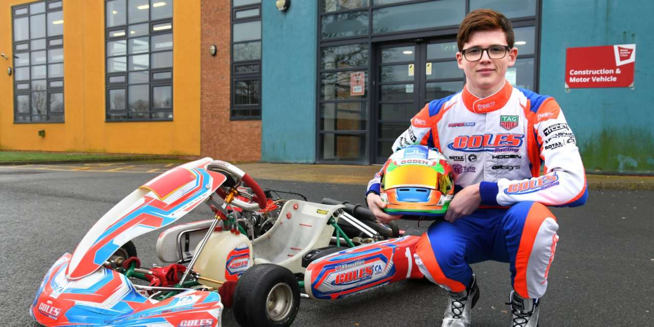 James to drive for Team UK in Brazil karting championships