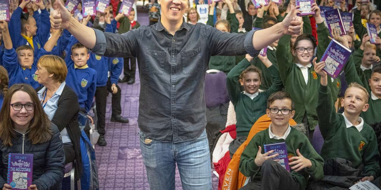 Wimpy Kid author Jeff Kinney visits Newcastle for an exclusive event for North East pupils