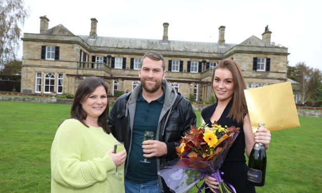 Kirkley Hall wedding day winners are floating on cloud nine