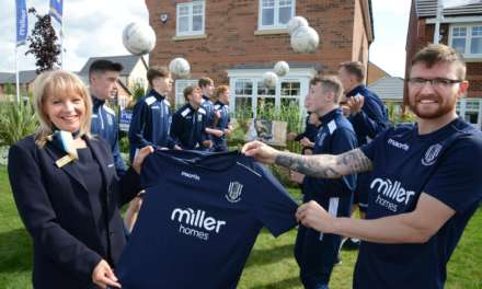 DARLINGTON YOUTH FOOTBALL TEAM SCORES SPONSORSHIP FROM MILLER HOMES