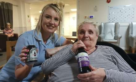 Stout and sandwiches a hit with care home residents