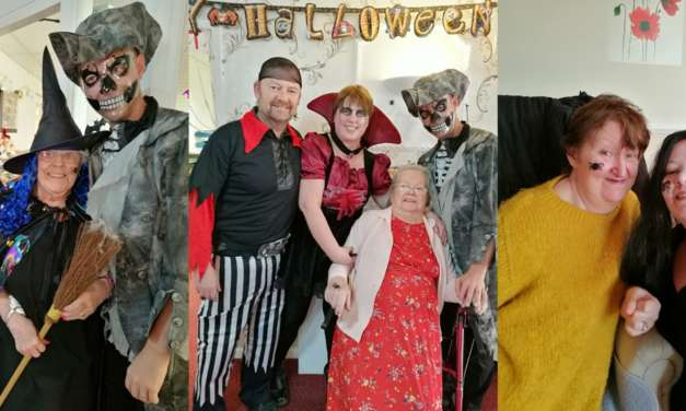 Halloween high tea at Pelton Grange Care Home