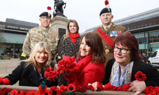 Ward Hadaway staff mark Remembrance Day with knitted and crocheted poppies