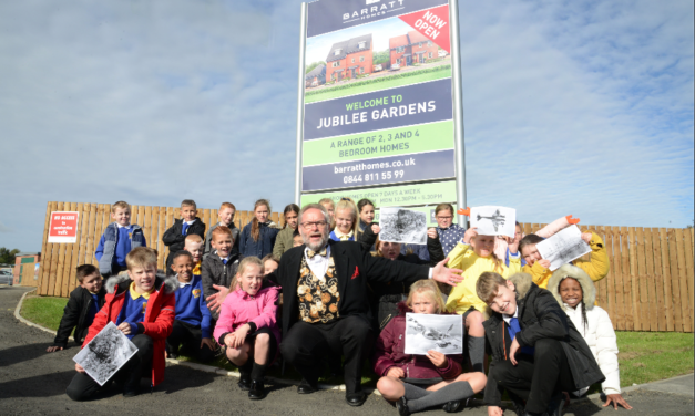 Turn back time: Housebuilder hosts magical history lesson for local Primary School