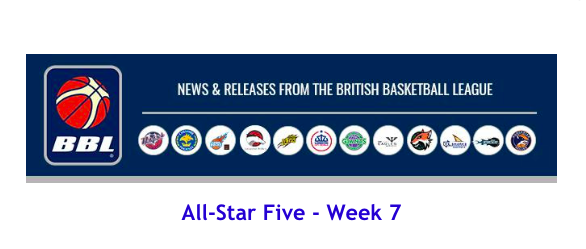 News from British Basketball League – All-Star Five – Week 7