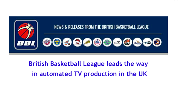 British Basketball League leads the way  in automated TV production in the UK