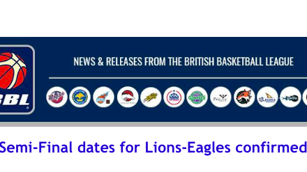British Basketball League: Semi-Final dates for Lions-Eagles confirmed