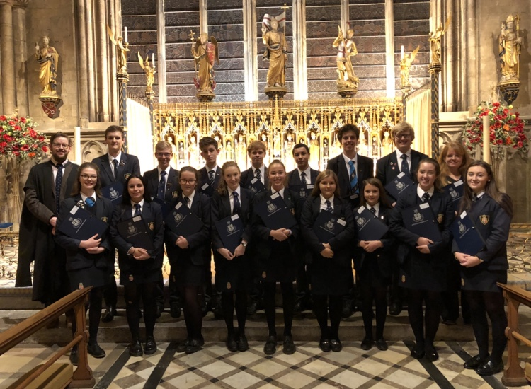 School's debut Christmas carol CD hits all the right notes