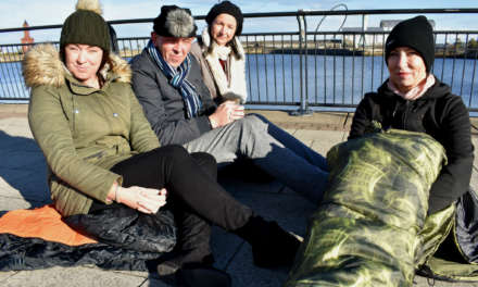 Staff sleep out to support homeless young people