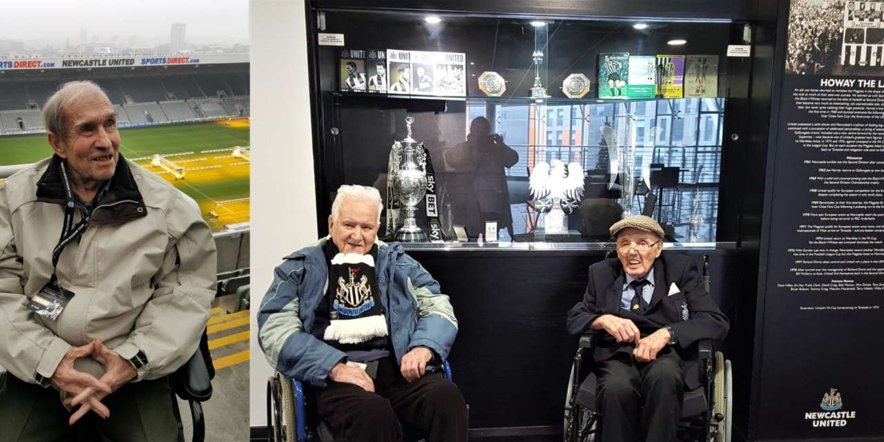 Toon Army elderly tour St James' Park on International Men's Day