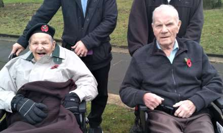 Army veteran Bill pays his respects on Remembrance Day