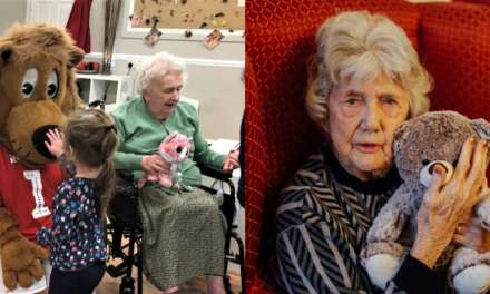 Lions and tigers help care homes celebrate Hug a Bear Day