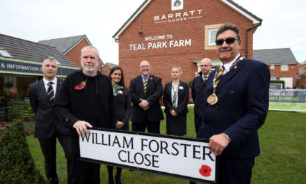 Housebuilder Unveil Street Name in Honour of Local Veteran to mark WW1 Centenary