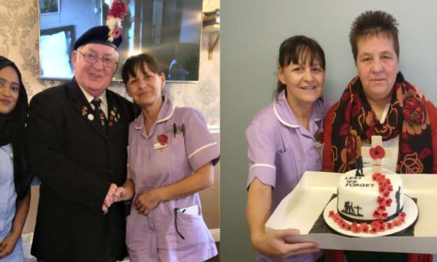 Royal British Legion visits care home on Remembrance Day