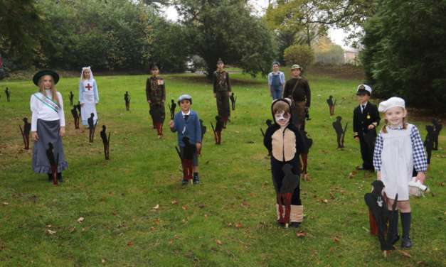 Children show wartime spirit in poignant day of Remembrance