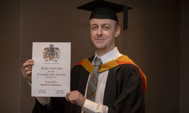 Graduate discovers award winning path to education after trauma