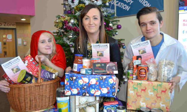 College supports Christmas hamper donation campaign