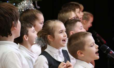 Children spell out the meaning of Christmas