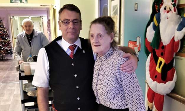 St Andrew's Day celebrations at Teesside care home