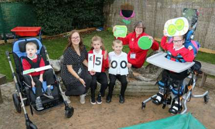 Supermarket shoppers kick off school's play area fundraising initiative