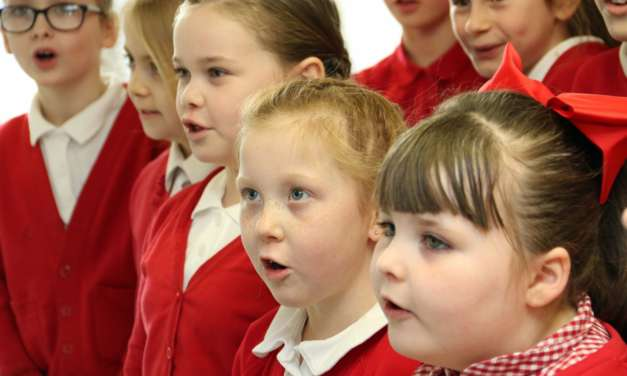 Young voice on carol-singing tour of town