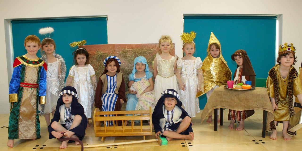 Reception pupils serve up a Christmas nativity treat