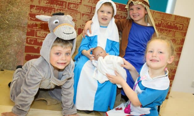 Call for the midwife as nativity cast take to the stage