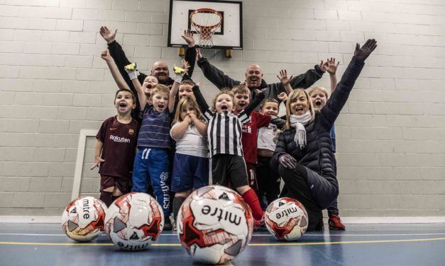 Steel fund scores goal with help for young footballers