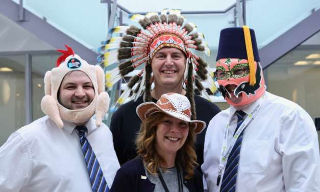 Colleagues at Vertu Motors get their hats on for automotive charity
