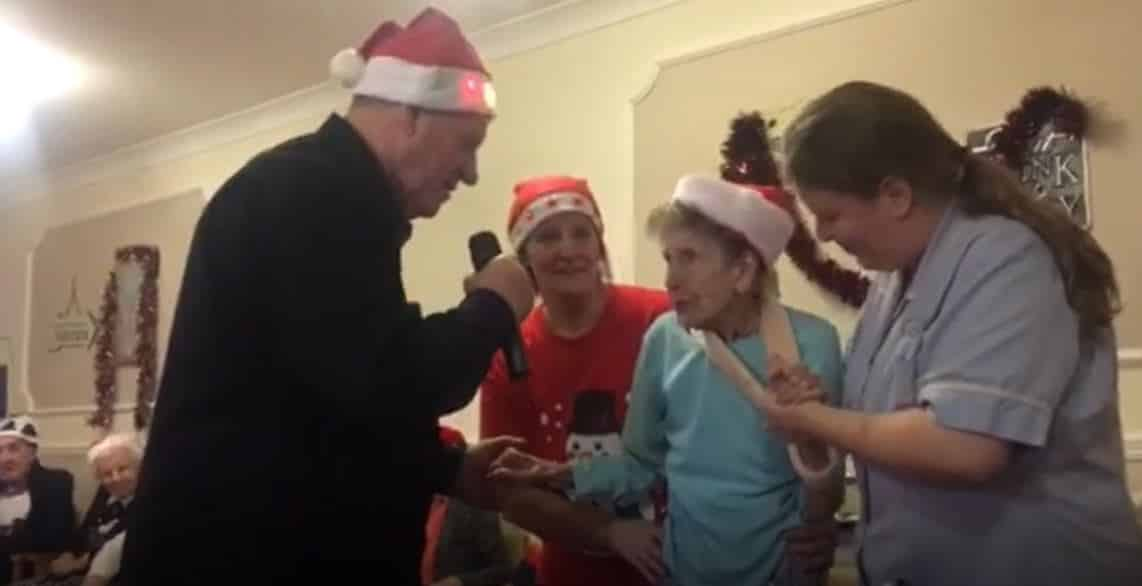 Christmas miracle as Vera performs at care home party