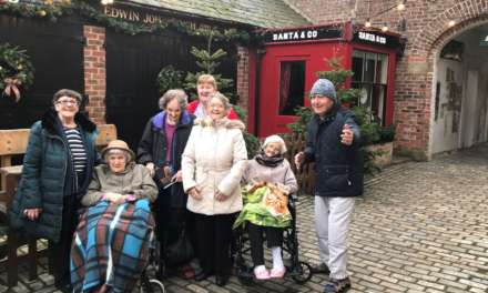 Care home residents tour Christmas past at museum