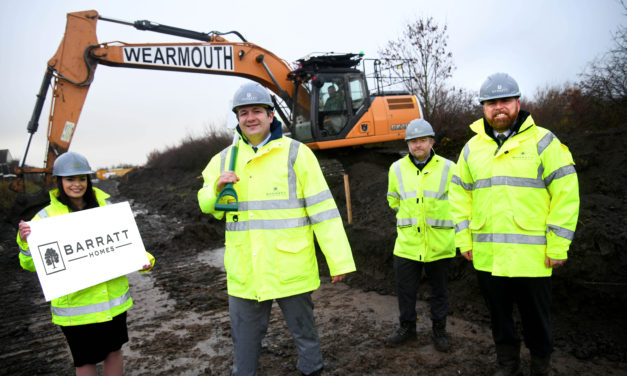 Laying the foundations: work has begun on the new housing development in Pegswood