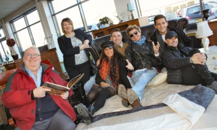 Panto stars jump into bed with hospice