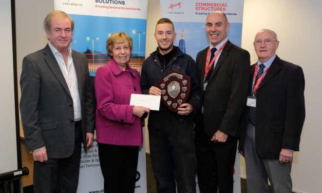 Star Cleveland Bridge UK apprentice Steven receives Ron Maddison Award