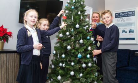 Local school's handmade decorations light up David Wilson Homes' Tranby Fields