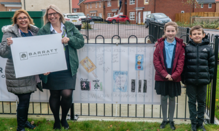 Barratt Homes raises road safety awareness with help from local school