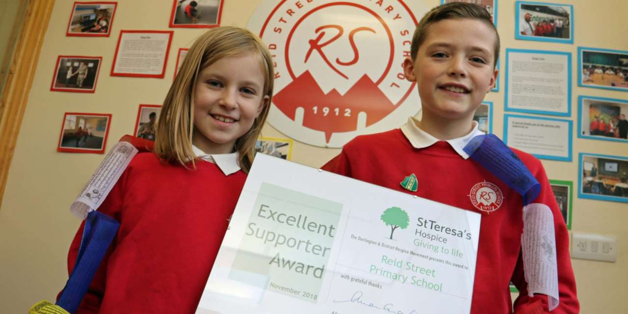 Primary school embraces efforts of 'Seven Summit Steve' to support hospice