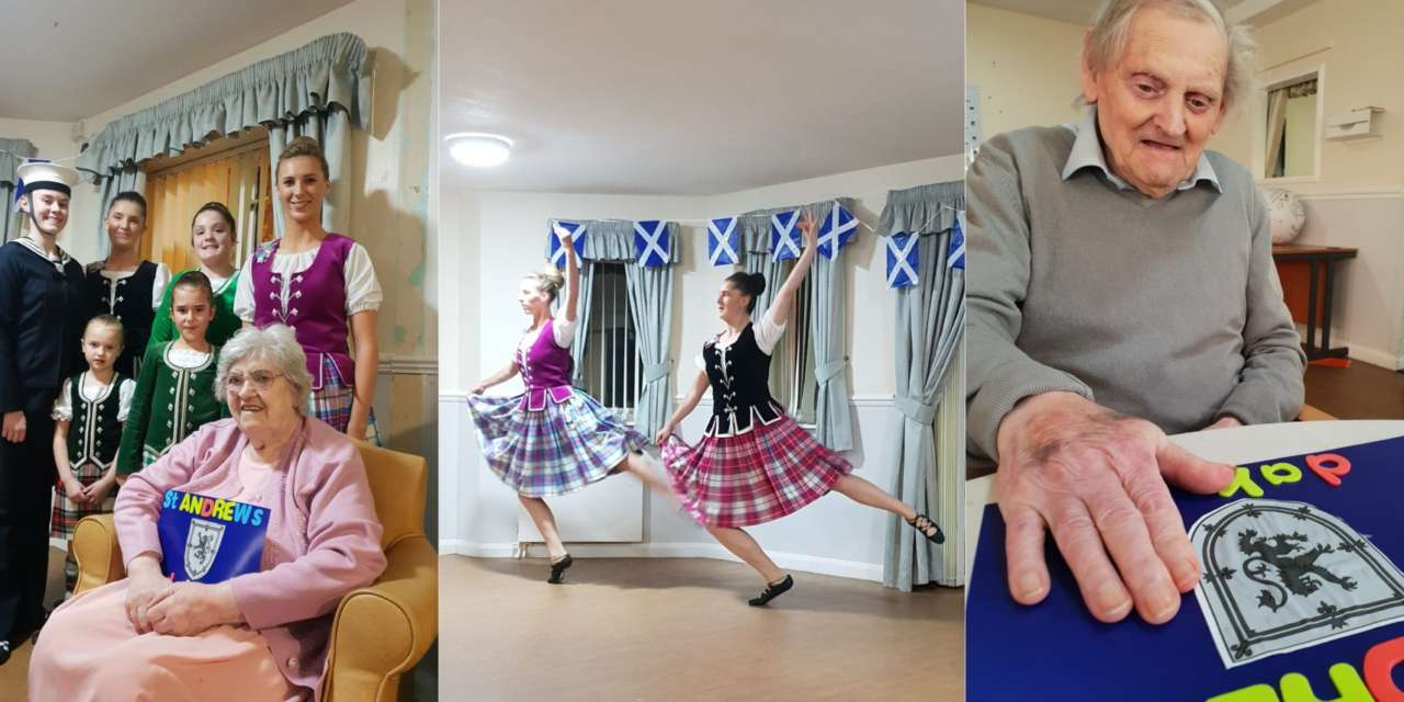Elsie gets special St Andrew's Day party at care home
