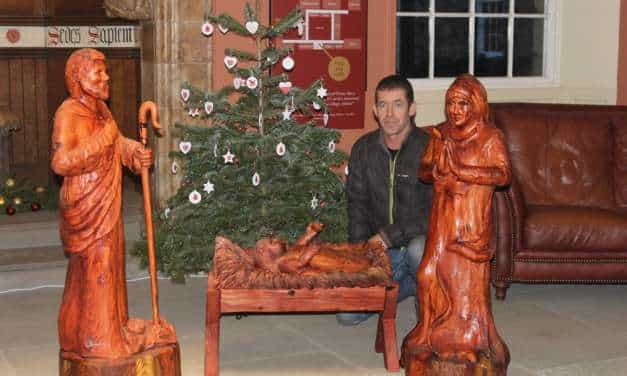 'Sponsor a shepherd' appeal as chainsaw sculptor creates stunning nativity figures