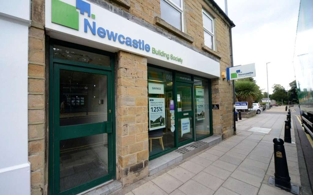 Wrapping Comes Off Upgraded Whickham Branch Of Newcastle Building Society In Time For Christmas