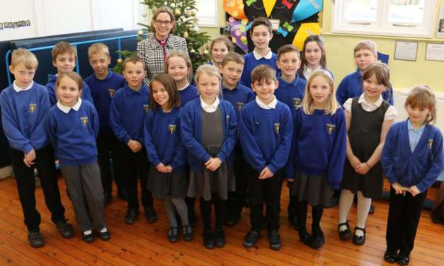 Advent visitors make special trip to village school