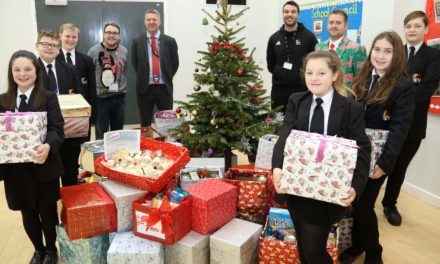 Students harvest food hampers for Christmas