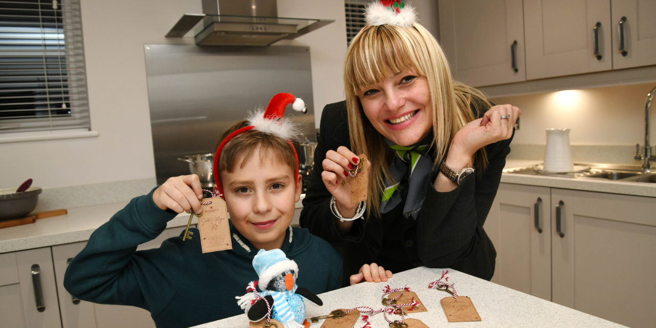 No chimney? No problem! Local housebuilder gives away 'magic keys' for children to help Santa visit this Christmas Eve