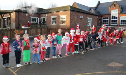 Ready, steady, go! Pupils stage Santa Run in aid of hospice