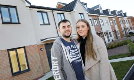 Matthew and Megan so happy in their new home